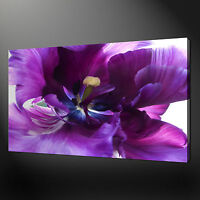 BEAUTIFUL ELEGANT PURPLE FLOWER CANVAS PRINT PICTURE WALL ART READY TO HANG