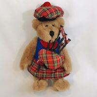 "Scottish Teddy Bear Bagpiper 7.5"" Plush Jointed Kilt Tam O'Shanter Hat Beeline"