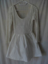 ALIVE GIRL White Lace Netted Dress Sz 8 BNWT BUY Any 5 Items = Free Post