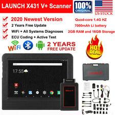LAUNCH X431 V+ Bi-Directional OBDII Scanner ECU Coding Auto Diagnostic Scan Tool