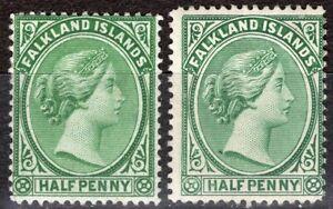 FALKLAND ISLANDS 1891/902 STAMP Sc. # 9/10 MH