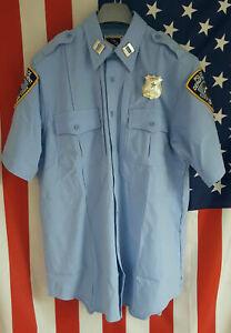 US POLICE UNIFORM - HEMD, NEU, COLOR: LIGHTBLUE, Size M