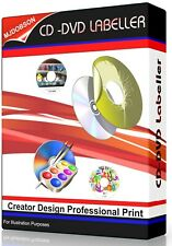 Label Creator Professional Design Maker   Print PC CD/DVD Software Download Item