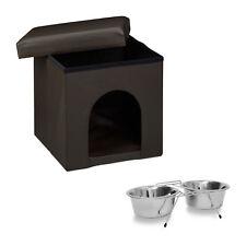 2er Set Home Sweet Hund Hundebett Hundebox Fressnapf Doppelnapf Futterstation