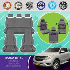 MAZDA BT-50 XT, XTR, 07/2012- 2015 CANVAS WATERPROOF TAILOR MADE CAR SEAT COVERS