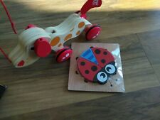 Wooden Pull Along Dog And New Wooden Ladybird Puzzle
