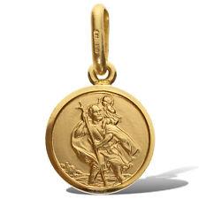 9CT GOLD SAINT CHRISTOPHER ST CHRIS PENDANT CHARM MEDAL FREE ENGRAVING GIFT BOX