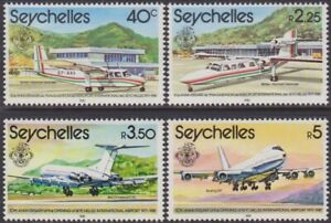 SET Seychelles 1981 Opening of International Airport 40c-5r MNH Stamps SG514/517
