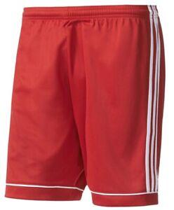 Boys Kids Children's Adidas Shorts Climalite Squadra 17 - Football Sports - Red