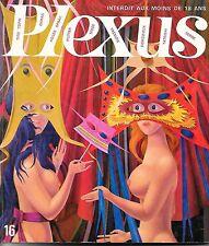 """PLEXUS"" N° 16 Agnès SPAAK nue, Horace DIMAYO, Wolfgang HUTTER, 3000 travestis"