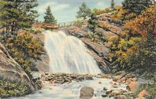 Colorado Springs, CO     HELEN HUNT FALLS & BRIDGE     c1940's Linen Postcard