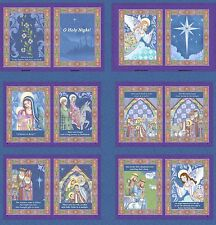 """Jim Shore O' Holy Night Softbook Panel 100% cotton 43/44"""" Fabric by the panel"""