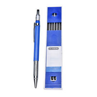 2B 2mm Lead Holder Automatic Mechanical Draw Drafting Pencil 12 Leads Refills TW