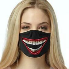 Joker Smile Black Face Mask Reusable Washable Unisex Face Cover Cloth Usa Seller