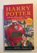 """Harry Potter & Philosopher's Stane (Scots Ed) """"Laddie Wha Lived""""-100% to Charity"""