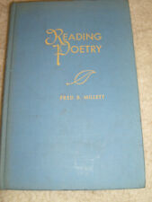 Reading Poetry by Fred B. Millett - 1950 first edition