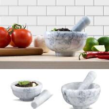 Antique Mortar & Pestle Granite Marble Stone Set Food Grinding Medicine Crusher
