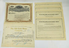 Wyoming- Small Lot Of Mining/ Other Stock Certificates