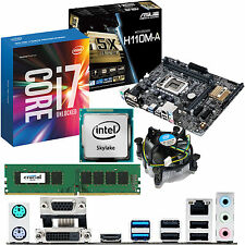 INTEL Core i7 6700K 4.0Ghz & ASUS H110M-A & 4GB DDR4 2133 CRUCIAL Bundle