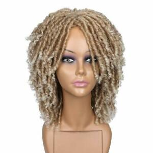 Short Twist Dreadlock Wigs for Black Women and Men Afro Curly Synthetic Wig