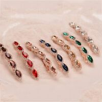 Women Retro Rhinestone Metal Hairpin Crystal Hair Clip Barrettes Color Jewelry~
