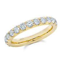 14K Yellow Gold Diamond Eternity Ring Band Size 4 Round Cut Natural Engagement