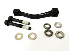 Avid Disc Brake Adapter, Post to Post +20mm adapter, 180mm Rotor, Steel Bolts