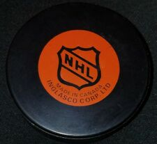 1980s NORDIQUES QUEBEC INGLASCO VINTAGE CANADA NHL HOCKEY GAME PUCK OLD GEM