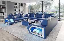 Sofá de Cuero Esquinero Tapicería Asiento Esquina Conjunto Muebles para Salón B2