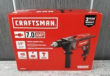 """NEW Craftsman CMED741 1/2"""" 7 Amp Corded Hammer Drill Driver Tool w Keyed Chuck"""