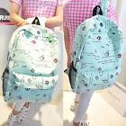 Fashion Women Canvas Travel Shoulder Bag Backpack School Bag Rucksack BookbagC7N