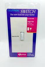Lutron Switch Qoto Q-1PSH-WH Single Pole WHITE Push on/Off