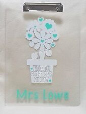 Personalised Thank you Teacher Teaching Assistant Clipboard