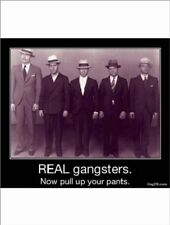 """""""Real Gangsters"""" ---Now Pull Up Your Pants--- (B331) {Postcard}"""