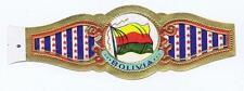 Bolivia   Flags World old cigar band vitolas Bauchbinden Sigarenbandje 33