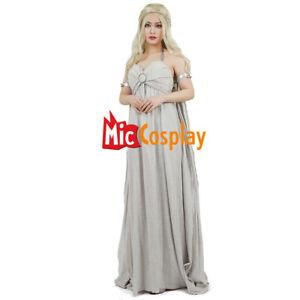 Daenerys Dress Targaryen Cosplay Grey Game of Thrones Costume