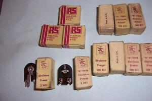 Vintage preset potentiometer selection x 17  new old stock Radiospares UK