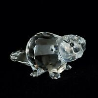 RARE Retired Swarovski Crystal Large Beaver Mother 164637 Mint Boxed