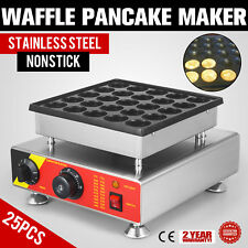 25pcs Elettrico Olandese Pancake Baker Maker Antiaderente Waffle Maker 25 Fori