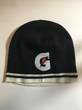 Men's Gatorade Logo Black White Ski Beanie Knit Hat Port & Company