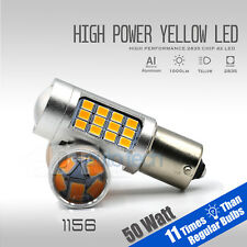 2018 1156 High Power Amber Yellow Turn Signal Blinker Indicator LED Light Bulbs