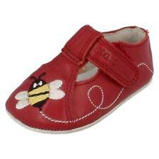 Chaussures rouges à attache auto-agrippant en cuir pour bébé