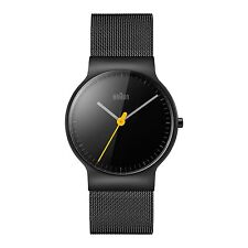 Braun Quartz Watch with Black Dial and Stainless Steel Strap BN0211BKMHL
