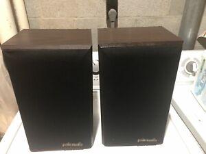 Pair Polk Audio Monitor Series 4 Woodgrain Vintage Speakers