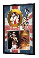 Freddie Mercury Queen Gold Vinyl Look CD, Autograph & Plectrum Display #2