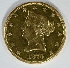 1876-Cc $10 Gold Liberty, Au/Bu Lot 329