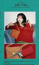 CELL PHONE CASE & BAG  & TOTE to CROCHET in WORSTED WEIGHT YARN by LILY CHIN