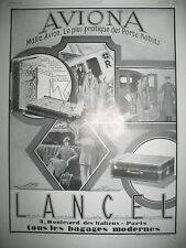 PUBLICITE DE PRESSE LANCEL  BAGAGERIE MALLE AVION AVIONA FRENCH AD 1928