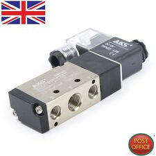 "2 Position 5 Way Air Pneumatic Solenoid Valve Kit DC12V 4.8VA IN-OUT 1/4"" PT"