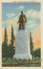 Huey P. Long Statue, Baton Rouge, Linen, Excellent Cond, Unused, Pre-1940
